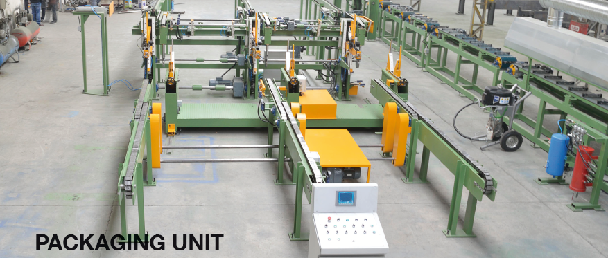 AUTOMATIC PAINTING LINE FOR THREE TUBES AND PROFILES